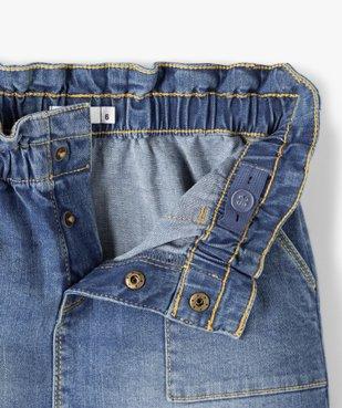 Jupe fille en jean avec taille froncée vue3 - GEMO C4G FILLE - GEMO