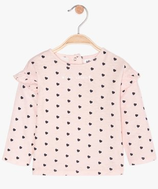Ensemble bébé fille 2 pièces : robe + tee-shirt manches longues vue3 - GEMO(BEBE DEBT) - GEMO