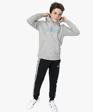 Sweat garçon à capuche avec poche kangourou - Adidas vue5 - ADIDAS - GEMO