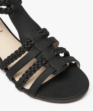 Sandales femme avec brides tressées autour de la cheville vue6 - GEMO (CASUAL) - GEMO