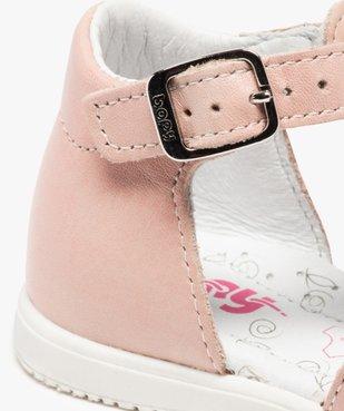 Sandales bébé filles en cuir détails métallisés - Bopy vue6 - BOPY - GEMO