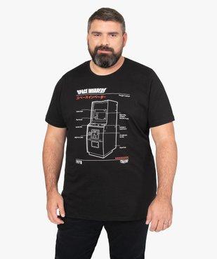 Tee-shirt homme avec motif sur l'avant – Space Invaders vue1 - SPACE INVADERS - GEMO