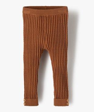 Pantalon bébé fille en maille fantaisie avec revers cousus vue1 - GEMO(BEBE DEBT) - GEMO