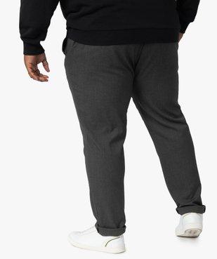 Pantalon homme en maille avec cordon vue3 - GEMO (G TAILLE) - GEMO