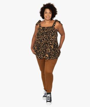 Chemise femme à bretelles motif animalier vue5 - GEMO (G TAILLE) - GEMO