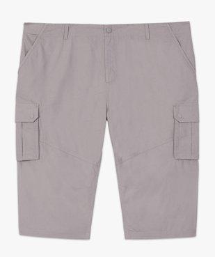 Pantacourt homme en toile unie avec larges poches vue4 - GEMO (G TAILLE) - GEMO
