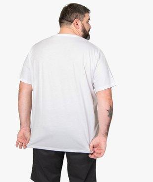 Tee-shirt homme à manches courtes avec motifs palmiers vue3 - GEMO (HOMME) - GEMO