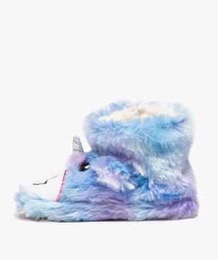 Chaussons fille en forme de boots peluche licorne vue3 - GEMO (ENFANT) - GEMO