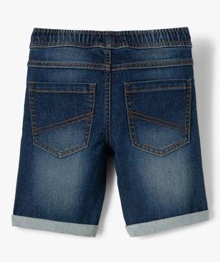 Bermuda garçon en jean avec revers cousus vue3 - GEMO (ENFANT) - GEMO