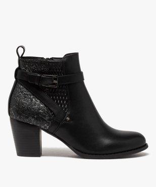 Boots femme à talon dessus multi-matières vue1 - GEMO(URBAIN) - GEMO