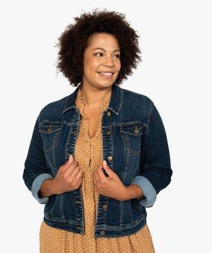 Veste femme grande taille en jean stretch vue1 - GEMO (G TAILLE) - GEMO