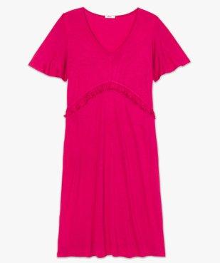Robe de grossesse col V avec bande froncée vue4 - GEMO (MATER) - GEMO