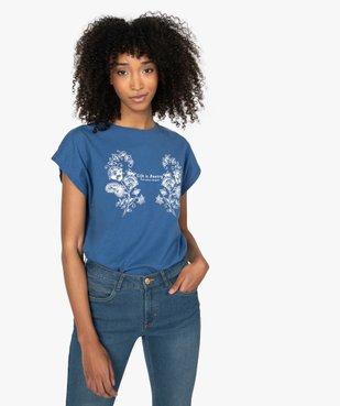 Tee-shirt femme à manches courtes avec motif fleuri vue1 - Nikesneakers C4G FEMME - Nikesneakers