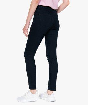 Jean femme skinny taille normale coloris foncé vue3 - GEMO C4G FEMME - GEMO