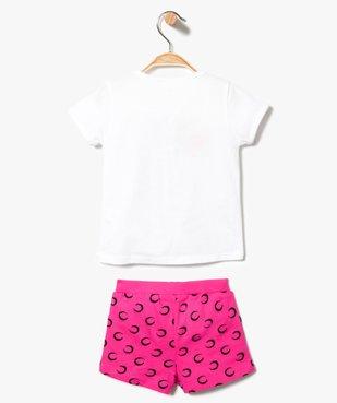 Ensemble 2 pièces : short + tee-shirt coordonnés - Disney Minnie Mouse vue2 - MINNIE - GEMO