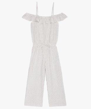 Combinaison pantalon fille rayée à fines bretelles vue3 - GEMO (ENFANT) - GEMO