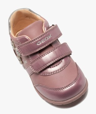 Chaussures bébé fille à scratch décor fleurs - Geox vue5 - GEOX - GEMO
