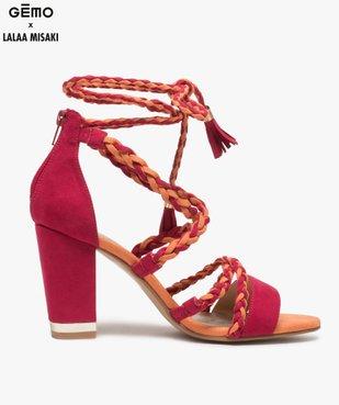 Sandales femme talon haut - Gémo x Lalaa Misaki vue1 - GEMO(URBAIN) - GEMO