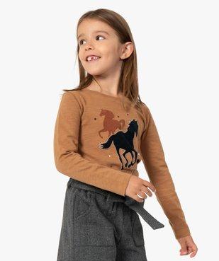 Tee-shirt fille à manches longues motif XXL vue1 - GEMO (ENFANT) - GEMO