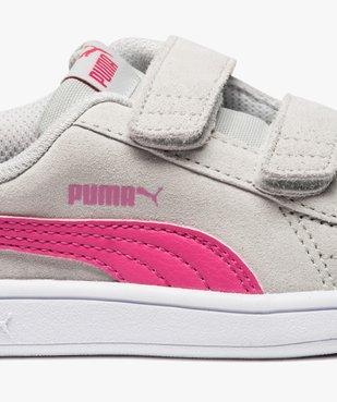 Basket bébé dessus cuir suédé à scratchs - Puma vue6 - PUMA - GEMO