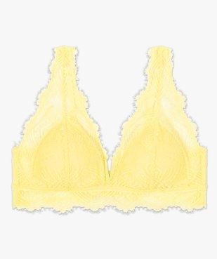 Soutien-gorge triangle en dentelle avec coussinets amovibles vue4 - GEMO(HOMWR FEM) - GEMO