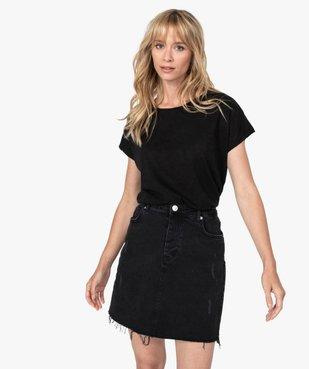 Tee-shirt femme large à manches ultra courtes  vue1 - GEMO(FEMME PAP) - GEMO
