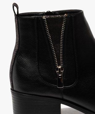 Boots femme à talon large avec zip décoratif vue6 - GEMO (CASUAL) - GEMO