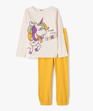 Pyjama fille avec motif licorne et paillettes vue1 - GEMO (ENFANT) - GEMO