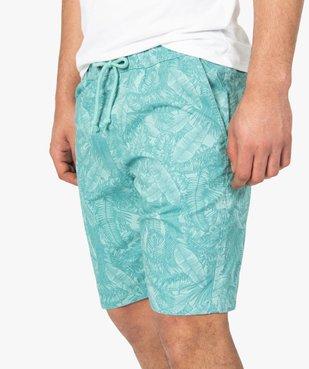Bermuda homme motif feuillage tropical vue2 - Nikesneakers (HOMME) - Nikesneakers