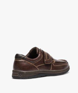 Chaussures bateau homme confort fermeture scratch vue4 - GEMO (CONFORT) - GEMO