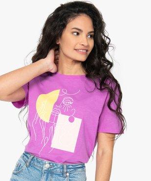 Tee-shirt femme oversize imprimé vue2 - GEMO(FEMME PAP) - GEMO