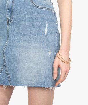 Jupe femme en jean avec marques d'usure vue2 - GEMO(FEMME PAP) - GEMO