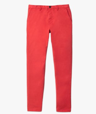 Pantalon chino homme en coton stretch vue4 - GEMO (HOMME) - GEMO