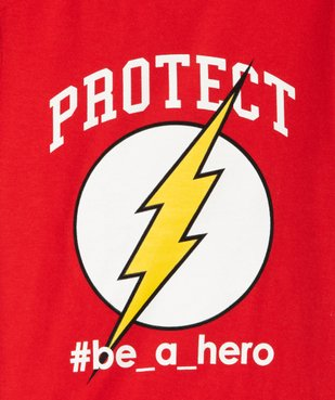Tee-shirt garçon imprimé Flash - DC Comics vue2 - DC COMICS - GEMO