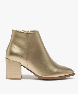 Boots femme à talon unis tige métallisée vue1 - Nikesneakers(URBAIN) - Nikesneakers