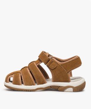 Sandales garçon unies à bout fermé vue3 - Nikesneakers (ENFANT) - Nikesneakers