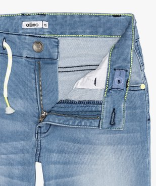 Bermuda garçon en jean extensible avec ceinture cordon vue2 - GEMO (JUNIOR) - GEMO