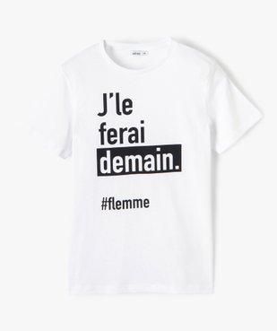 Tee-shirt garçon à manches courtes à message vue1 - GEMO (JUNIOR) - GEMO