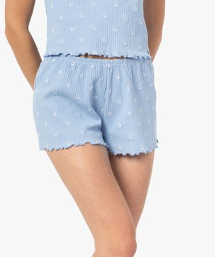 Bas de pyjama femme short fleuri - LuluCastagnette vue1 - LULUCASTAGNETTE - GEMO