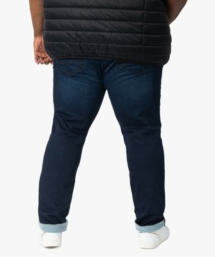Jean homme brut extensible coupe droite vue3 - GEMO (G TAILLE) - GEMO