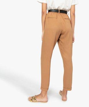 Pantalon femme fluide avec taille élastiquée vue3 - GEMO(FEMME PAP) - GEMO