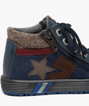 Boots garçon en cuir fermeture lacets et zip - Bopy vue6 - BOPY - GEMO