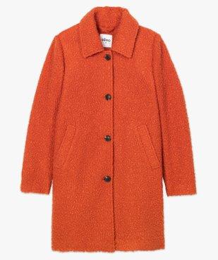 Manteau femme mi-long en maille bouclette vue4 - Nikesneakers(FEMME PAP) - Nikesneakers