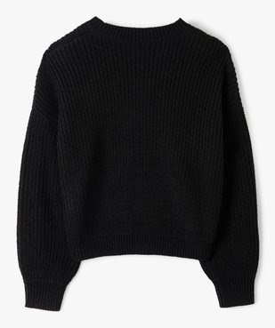 Pull fille à grosse maille et perles vue3 - Nikesneakers (JUNIOR) - Nikesneakers
