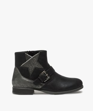 Boots fille zippés avec étoile pailletée sur le côté vue1 - Nikesneakers (ENFANT) - Nikesneakers