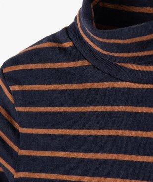 Tee-shirt garçon rayé à manches longues et col montant vue2 - Nikesneakers (ENFANT) - Nikesneakers