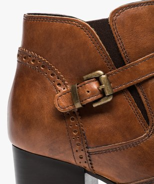 Boots pour femme avec bride et boucle métallique sur le côté vue6 - GEMO(URBAIN) - GEMO