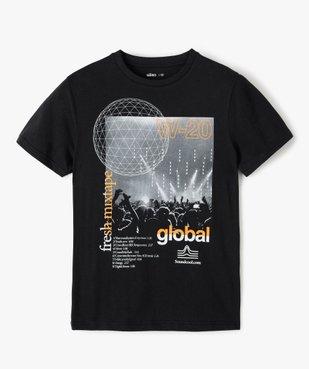 Tee-shirt garçon à manches courtes imprimé streetwear vue1 - GEMO (JUNIOR) - GEMO