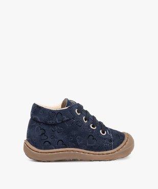 Chaussures premiers pas bébé fille dessus cuir retourné vue1 - Nikesneakers(BEBE DEBT) - Nikesneakers