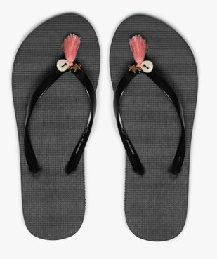 Tongs femme avec pampilles et coquillage vue1 - Nikesneakers (PLAGE) - Nikesneakers